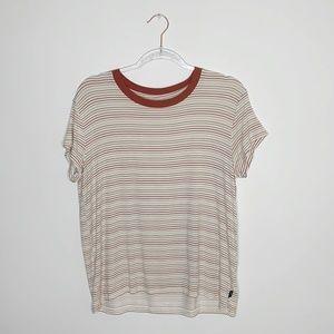 RVCA neutral stripes crewneck tee shirt Medium
